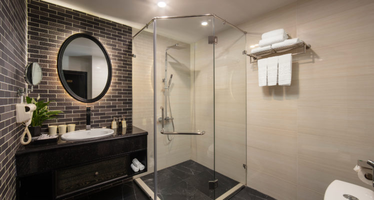 family suite bathroom walk-in shower
