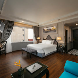 imperial suite room with city view hanoi