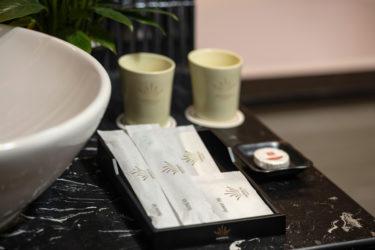 bathroom amenities at imperial hotel in hanoi