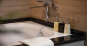junior suite bathtub and bathroom amenities