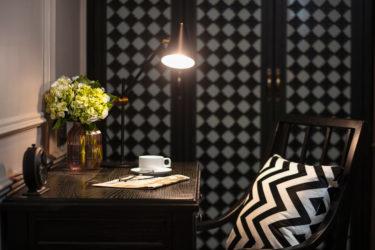 deluxe room working desk sitting area