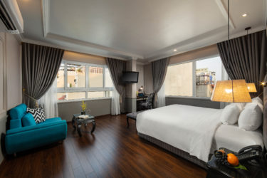 imperial suite room with hanoi city view