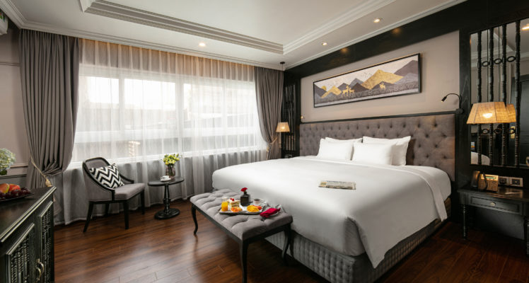 premium room with hanoi old quarter view