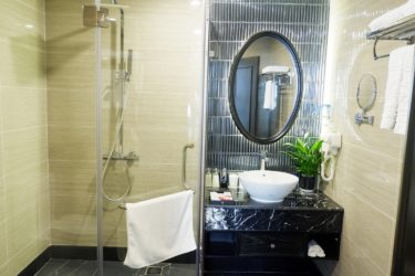 premium bathroom with walk-in shower