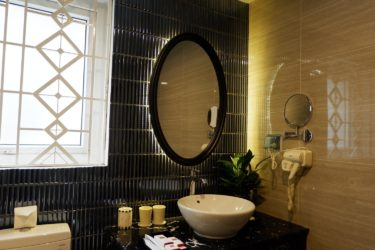 premium bathroom mirror and sink