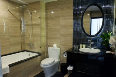 premium room bathtub and toilet