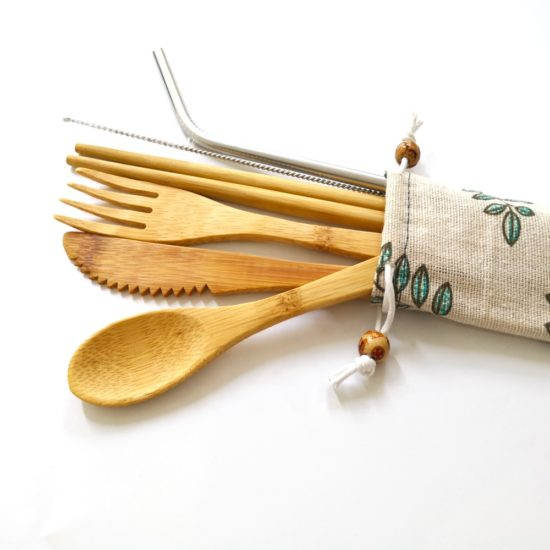 reusable travel utensils to reduce single-use plastic