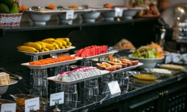 hanoi best dining imperial restaurant breakfast buffet fruit choices